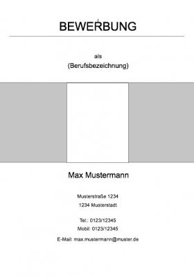 Deckblatt Für Die Bewerbung Kostenfreie Muster 2018