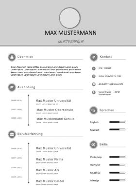 Lebenslauf Muster für die Bewerbung 2018 - meinebewerbung.net