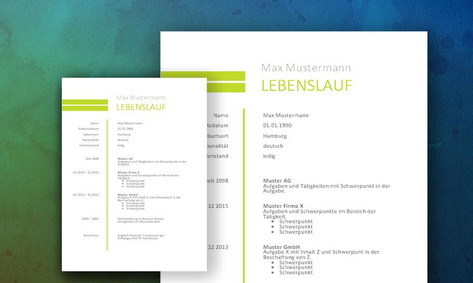 muster downloads - Bewerbung Muster Download