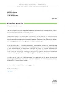 Bewerbungsschreiben in Grün