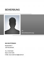 Deckblatt – Bewerbungsvorlage – 2019 / 2020