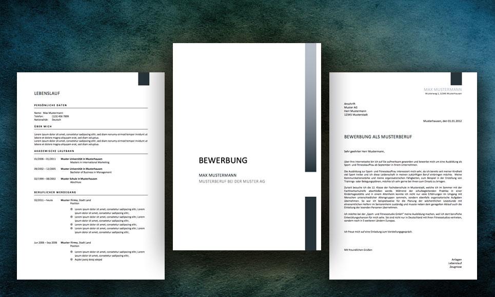 Bewerbung Muster: Professionelle Design Vorlagen - Meinebewerbung.Net