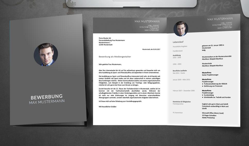 Bewerbung Muster Professionelle Design Vorlagen Meinebewerbungnet