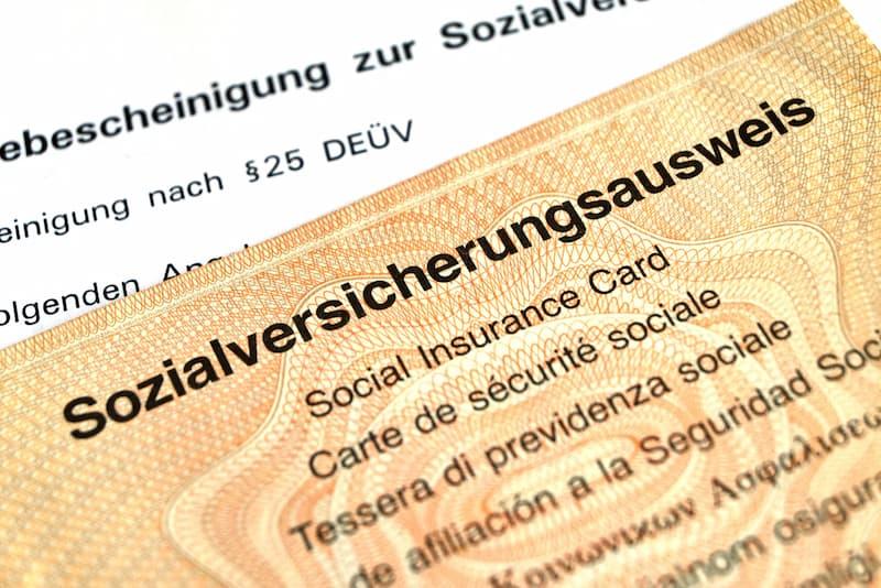 Ein Ausweis der Sozialversicherung